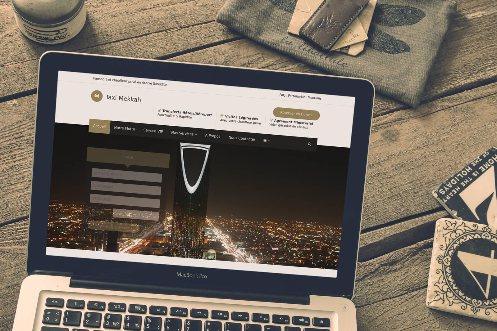 Taxi Mekkah création de site web