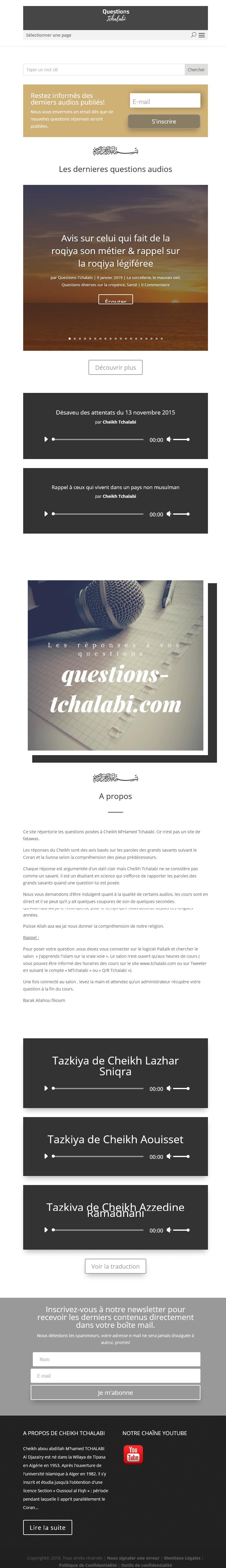 Questions & Réponses Sheikh Tchalabi Tab